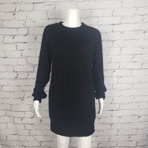 Brunette the Label Black Knit Sweater Dress